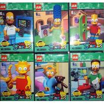 Los Simpsons !! X 6 Personajes Bart Homero Lisa Oferta !!!