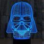 Lampara Velador Led 3d Star Wars Darth Vader Holograma Usb