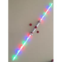 Espada Doble Sable Star Wars 1,20mt De Largo Luz Y Sonido