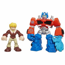 Transformers Rescue Bots Optimus Prime & Cody Burns Playskoo