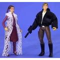 Star Wars- Leia Y Han Solo Tpotf2 Loose, Kenner