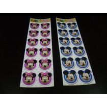 Stickers Infantiles Vinilicos X3 Planchas De 12 Figuras C/u