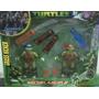 Set De Combate Tortugas Ninja - Armas + Muñecos Con Luz