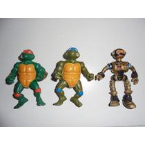 Tortugas Ninjas Tmnt Lote De Muñecos Playmates Vintage Mike