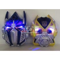 Máscara Transformers Optimus Prime Bumblebee Luz Careta 19cm