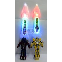 Transformers Optimus Prime Bumblebee Espada Luz Sonido 60cm