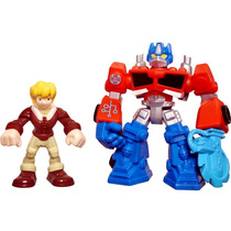 Transformers Rescue Bots Optimus Prime Y Cody Burns Hasbro