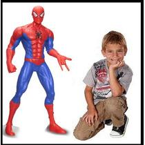 Spiderman Super Heroe Muñeco Gigante 80cm, Figura De Acción