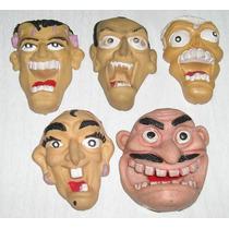 Lote De 5 Cabezas De Goma Monstruos Para Jugar Con Los Dedos
