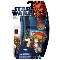 Star Wars Clone Wars 2012 Figura De Yoda Con Capa De Tela!!!