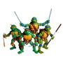 Muñecos Tortugas Ninjas Articulados C/armas En Base 17 Cm