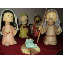 Pesebre Navideño 6 Piezas En Porcelana Fria