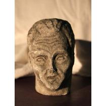 Escultura Cabeza De Hombre,piedra París. V.puig (150370)