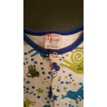 Pijama Grisino 3-6 Meses C/piernitas Como Nuevo. 51cm Largo