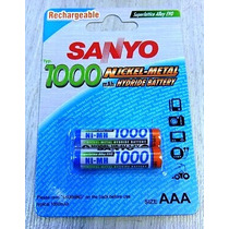 Pilas Recargables Sanyo Aaa Originales Japan 1000 Mah Por 2