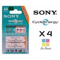 4 Pilas Recargables Sony Original Cycle Energy Aa 4600 Mah X