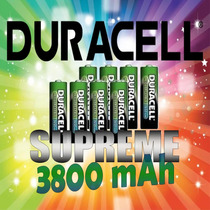 Pilas Recargables Aa Duracell Supreme 3800 Mah -$ -$ -$ -$