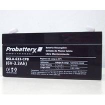 Bateria De Gel 6v 3,3a Marca Probattery Libre Mantenimiento