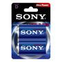 2 Pilas Alcalina Tipo D Sony Stamina Plus. 1.5v.