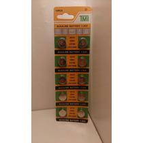 Blister De 10 Pilas Ag10 P/ Relojes Calculadora Electronicos