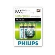 Pilas Philips 3aa Recargables 900mha Blister X 4 Merc Envios