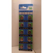 Blister De 10 Pilas Ag13 P/ Relojes Calculadora Electronicos