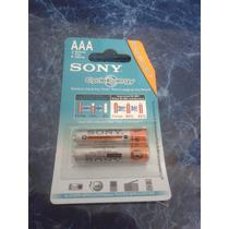 Pilas Recargables Sony Aaa X2