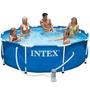 Pileta Intex Lona 305 X 76 Cm Estructural + Bomba + Cobertor