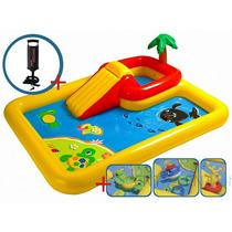 Pileta Inflable Intex Playcenter Ocean + Inflador Juegos