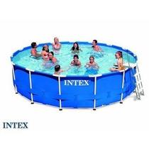 Pileta Estructural Intex 427x107 Filtro Cobertor Y Escalera