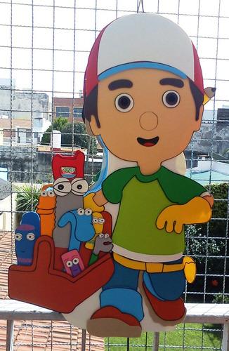 Piñatas En Goma Eva,cebra Zou, Dra. Juguetes, Manny