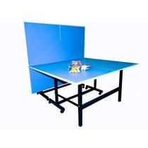 Mesa De Ping Pong Reglamentaria Plegable 8 Ruedas Nueva