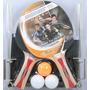 Set 2 Paletas Ping Pong Donic 300 +3 Pelotitas +red Soportes