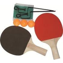 Set 2 Paletas De Ping Pong + Red + 3 Pelotitas Nuevo Blister
