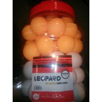 Pelota Ping Pong Leopard X Unidad Naranja Blanca Profesional