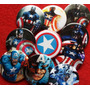 10 Pines Prendedores Colección Capitán América - Vengadores