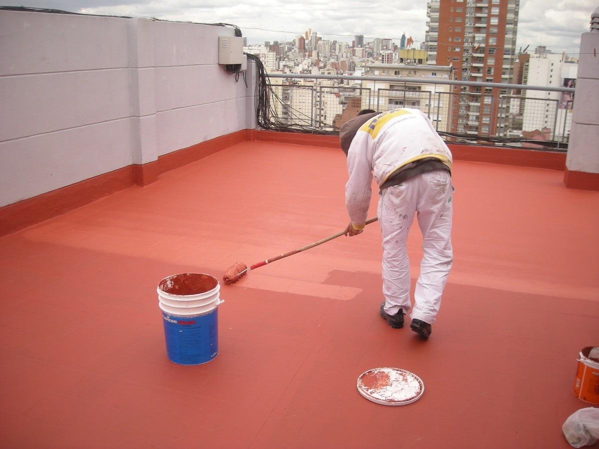Pintura altura exterior impermeabilizacion medianeras for Pintura impermeabilizante sika