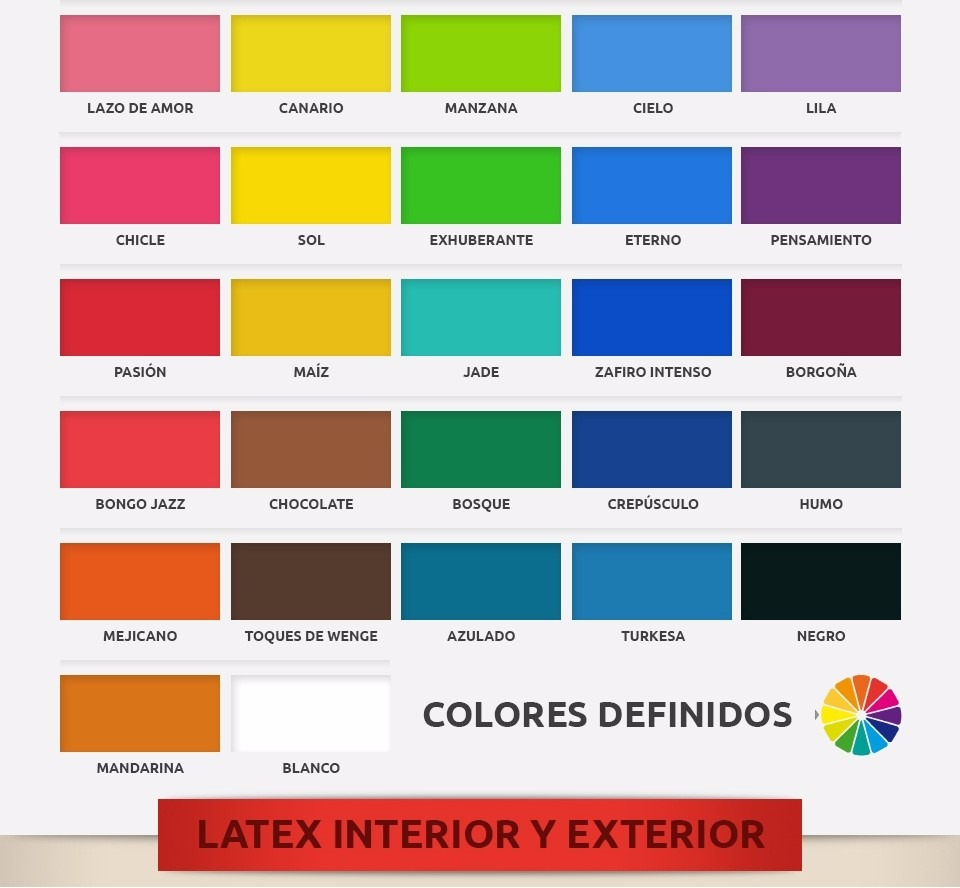 Colores Pintura Pintura Látex Color