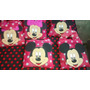 Bolsita De Tela Con Cara De Goma Eva Mickey Minnie 23x23cn