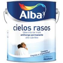 Cielorrasos Antihongo Alba 4 Lts! Latex Interior Mate
