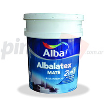 Albalatex 2 En 1 Blanco 20 Lt. Pintura Latex Alba Interior