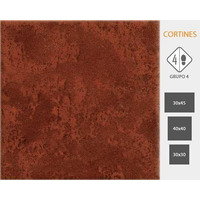 Cerámica Cortines 1º Cotto 40x40 X Caja P/ Patio Terraza