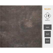Cerámica Cortines Ciment 30x45cm Negro/gris X Caja