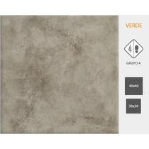 Cerámica Cortines Ciment 40x40cm Verde/gris/arena $ X Metro