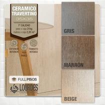 Ceramica Lourdes Travertino Gris/beige/marron 35x35 La Plata