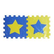 Piso De Goma Eva Boca Azul Y Amarillo 10 Piezas - Prestigio