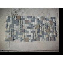 Paneles De Piedra Laja De 30x30x1 Color Gris Y Ocres