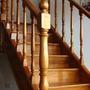 Columna Torneada Para Escalera 3 X3 X1,20 Cm C/u