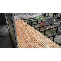 Deck De Madera Con Colocacion Piletas Pisos Balcones Patios