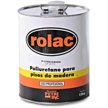 Laca Poliuretanica Plastificante Pisos Rolac Petrilac 4lts